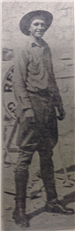 Deputy Cleo Platt - killed on December 17, 1927 photo furnished by Charlotte Community Library