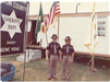 Mounted Division Special Deputies Richard Schneckenberger and Karen Rodgers August 1973