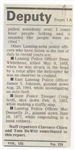 Hit-run driver kills Eaton deputy December 11, 1985 article page 2