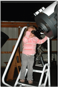 Little Girl Viewing the Observatory