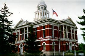 The Eaton County Courthouse built from 1883 to 1886.